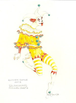"Original Watercolor ""Nutcracker"" Russian Dance By Zack Brown"