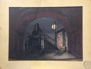 Threepenny Opera Watercolor Set Sketch By Lloyd Evans