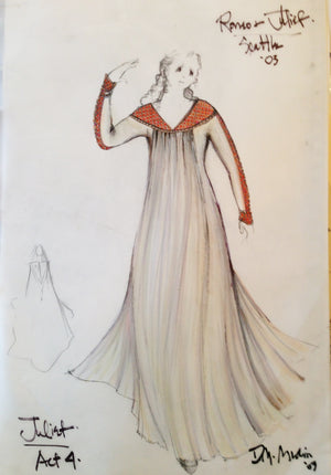 """Romeo And Juliet"" Juliet Costume Sketch By David Murin"