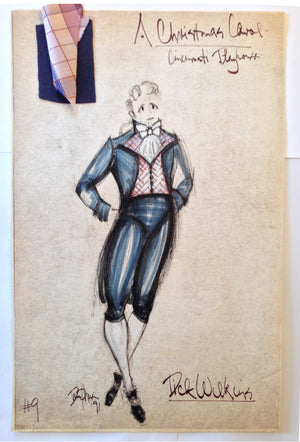 """A Christmas Carol"" Dick Wilkins Costume Sketch, David Murin"