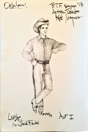 """Oklahoma"" Curly  Costume Design By David Murin"