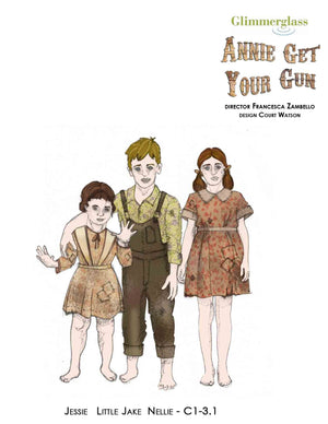 """Annie Get Your Gun"" Children'S  Costumes By Court Watson"