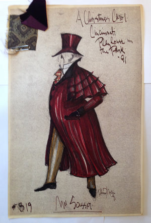"""A Christmas Carol"" Mr. Sosser Costume Sketch, David Murin"