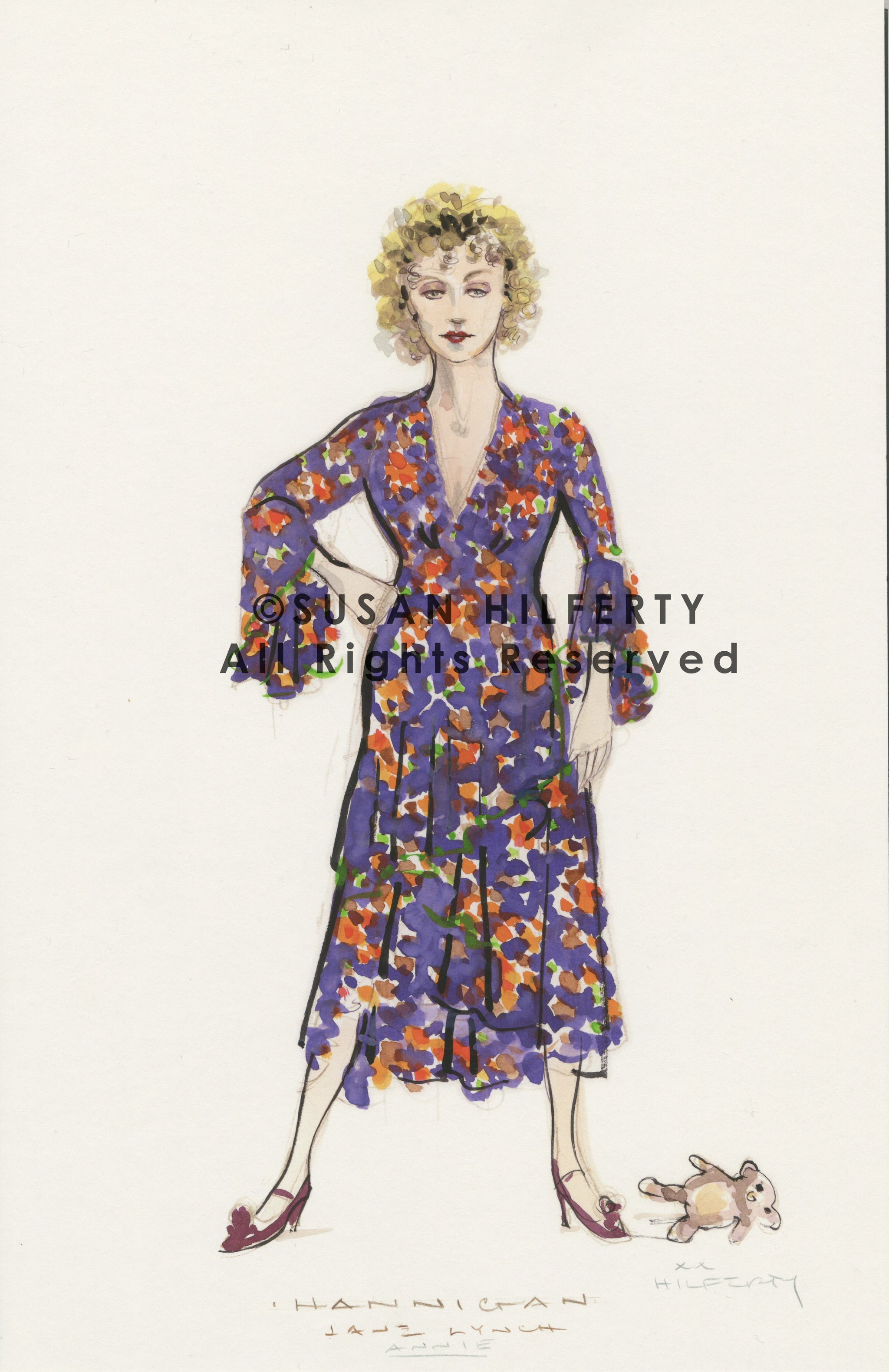 Annie  Miss Hannigan  Orig. Costume Design By Susan Hilferty  sc 1 st  Broadway Design Exchange & Costume Renderings Tagged