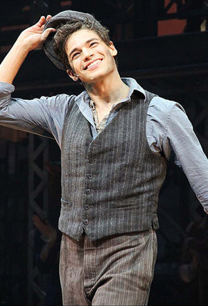 NEWSIES -  Jeremy Jordan as Jack Kelly  Original costume sketch by Jess Goldstein