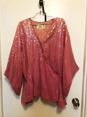 TABOO - Original Broadway Ensemble Costume - Pink Sequin Kimono