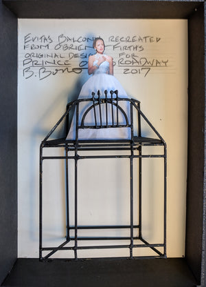 "PRINCE OF BROADWAY ""EVITA"" Balcony Model  by Beowulf Boritt"