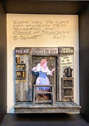 "PRINCE OF BROADWAY "" Sweeney Todd"" Pie Shop Model by Beowulf Boritt"