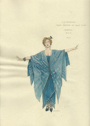 LA RONDINE - Bianca Act 1 Costume sketch by Jess Goldstein
