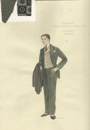 LA RONDINE - Prunier Acts I & II Costume Sketch by Jess Goldstein