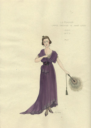 LA RONDINE - Suzy Act I Costume Sketch by Jess Goldstein