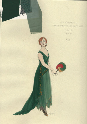 LA RONDINE - Yvette Act I Costume Sketch by Jess Goldstein