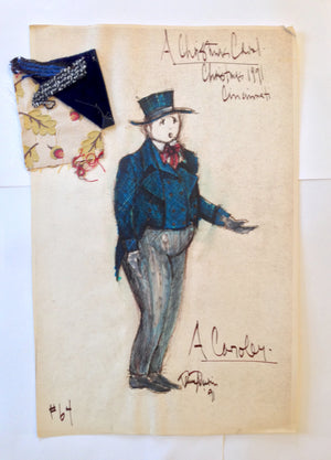 """A Christmas Carol"" A Caroler Costume Sketch, David Murin"