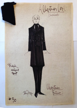"""A Christmas Carol"" Ghost of Xmas Future Costume Sketch David Murin"