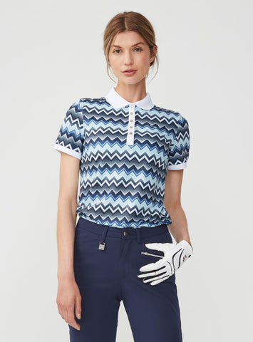 ROHNISCH Element Poloshirt Zigzag Blue