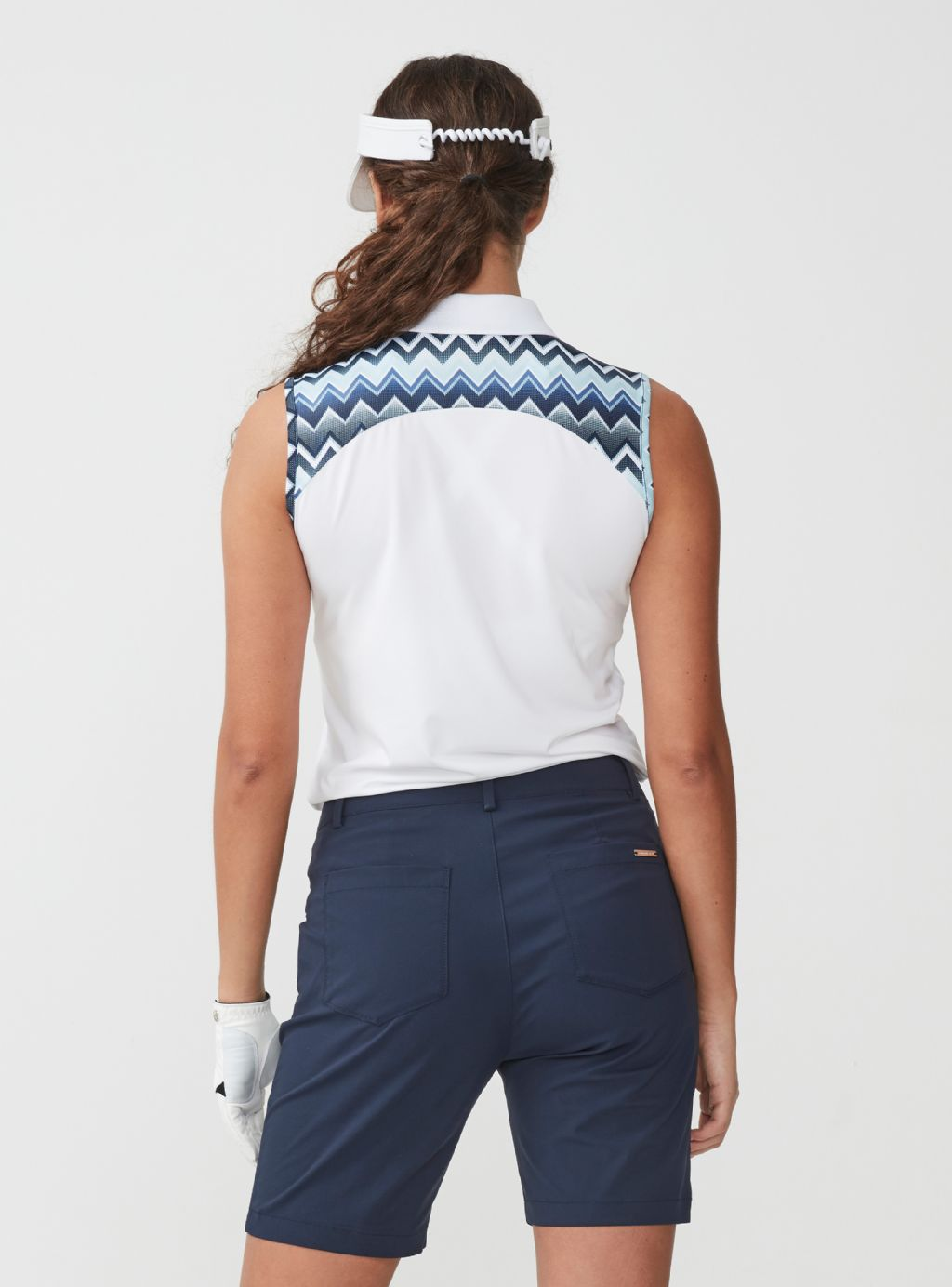 ROHNISCH Element Sleeveless Polo Zigzag Blue