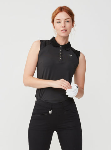 ROHNISCH Pulse Sleeveless Polo Black