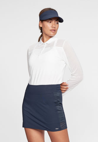 ROHNISCH Miko Long Sleeve Polo White