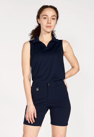 ROHNISCH Zoey Sleeveless Polo Navy