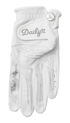 DAILY SPORTS Leather Glove 705 White