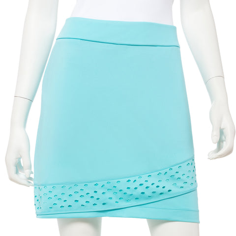 EP NEW YORK Laser cut skort 1610 Fiji Blue