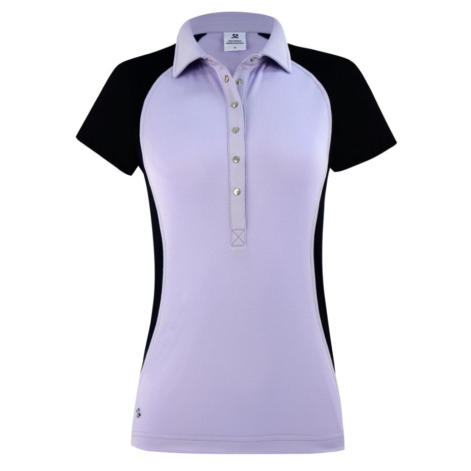 DAILY SPORTS Zenia  Cap Sleeve Polo 109 Salvia