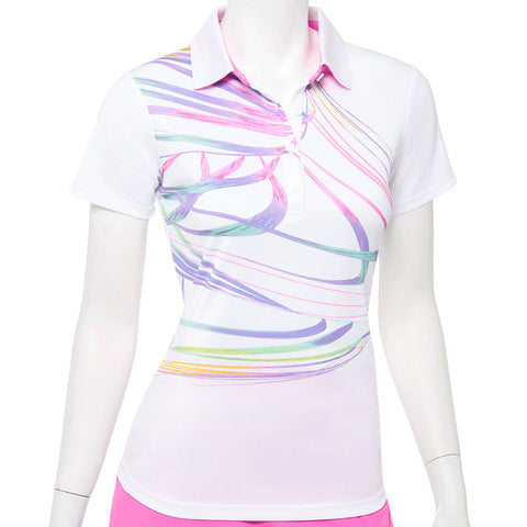 EP NEW YORK Swirl Print Polo 5723 White