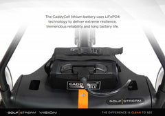 GOLF STREAM Vision Electric Golf Trolley + 36 Hole Battery + FREE GOLF BAG