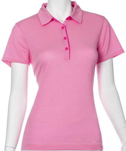 EP NEW YORK Short Sleeve Geo Polo 5102 Rosa