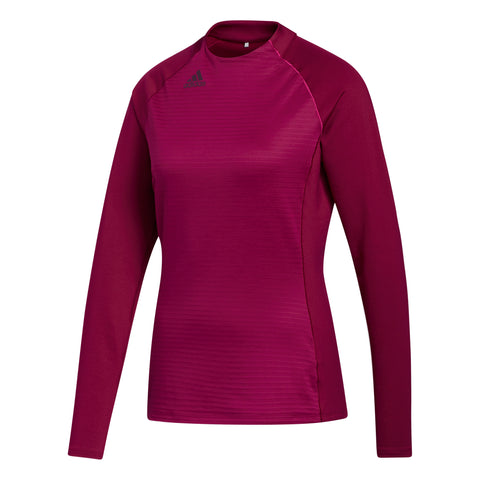 ADIDAS COLD.RDY Long Sleeve Mock 0687 Power Berry