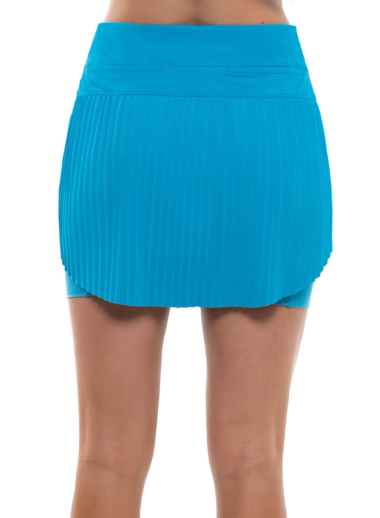 LUCKY IN LOVE Hi-Brid Pleated Short Skort Turquoise 6-409