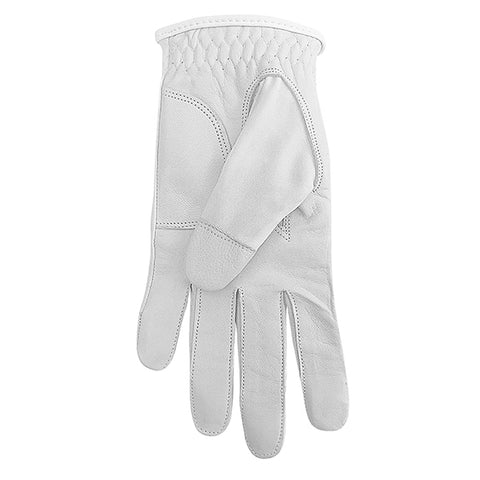 SURPRIZE SHOP Leather Palm Glove White
