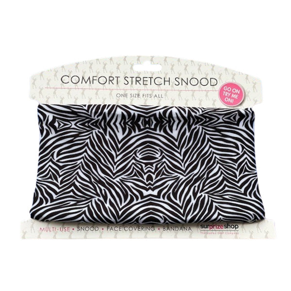 Stretch Snood / Face Covering Zebra