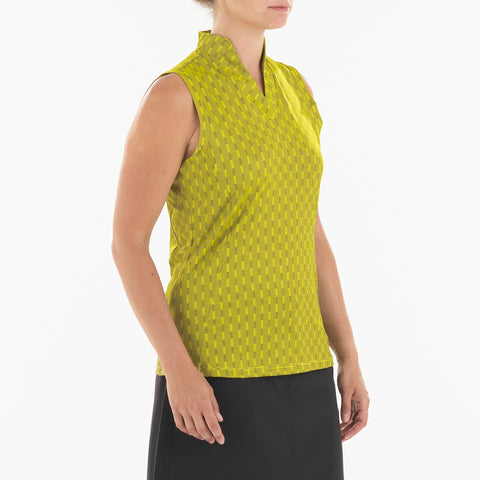 NIVO Sammy Sleeveless Polo 135 Sunny Yellow