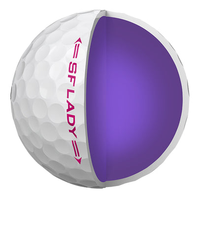 SRIXON Soft Feel Lady 12 Golf Balls White