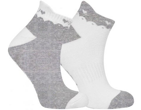 SURPRIZE SHOP 2 Pair Pack of Grey Golf Socks