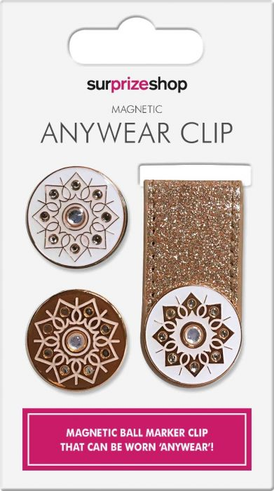 SURPRIZE SHOP Anywhere Magnetic Ball Marker Clip Rose Gold