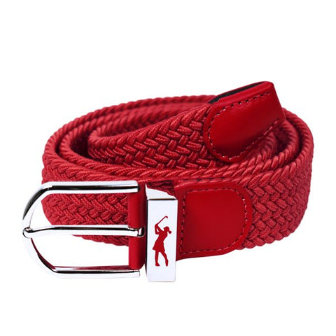 Woven Stretch Belt Pastel Red
