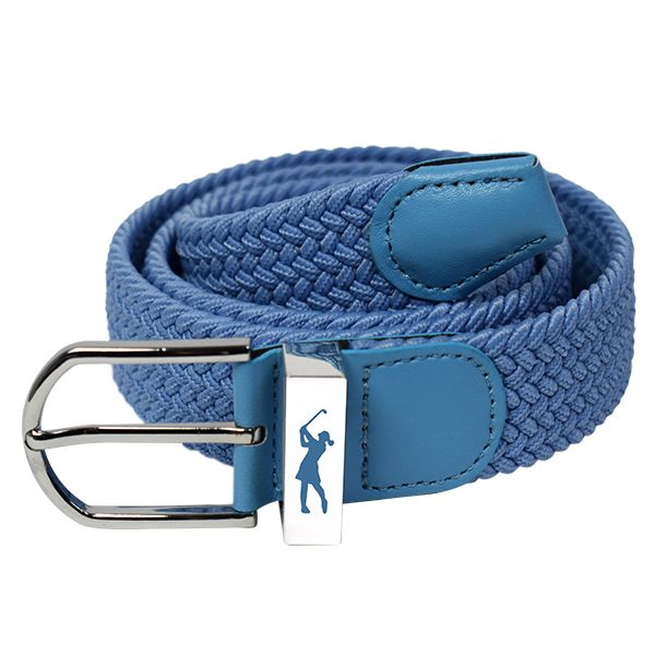 Woven Stretch Belt Pastel Blue