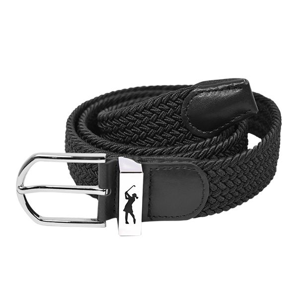 Woven Stretch Belt Black