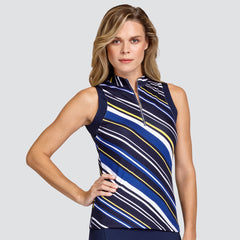 TAIL Franci Sleeveless Polo Electra Stripe