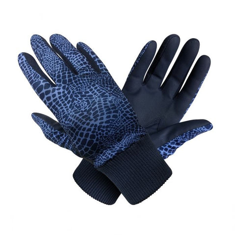 SURPRIZE SHOP Winter Gloves Navy Snake (Pair)