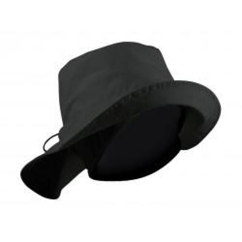 Fitted Fleece Lined or Unlined Rain Hat Black