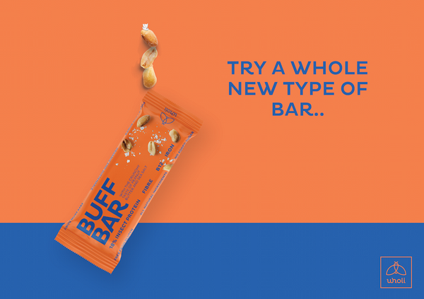 Buff bar natural protein bar made with insects
