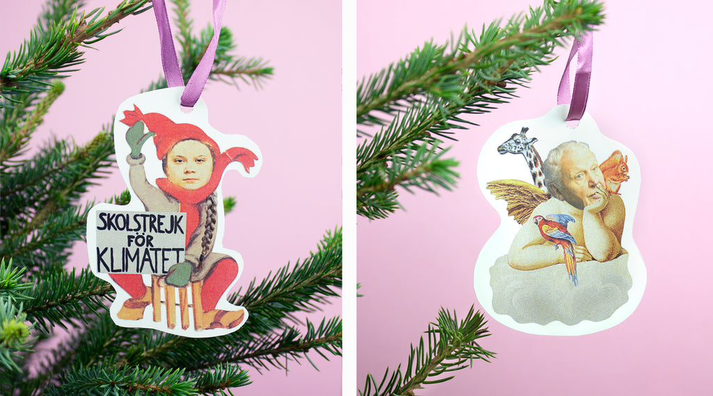 Christmas Ornaments for the environmental planet lover