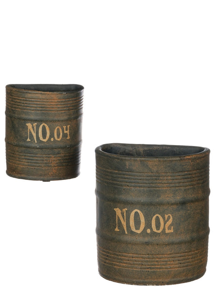 Cement Wall Pocket Containers, Set of 2