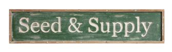 Seed & Supply Sign