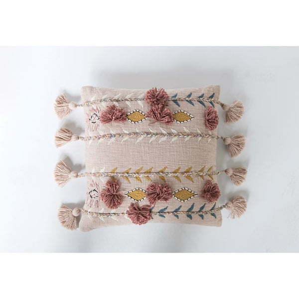 Bohemian Embroidered Pillow