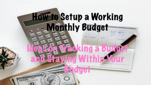 Starting a budget and carrying that budget from month to month. Making adjustments to your budget and using online tracking apps to help.