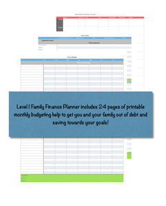 Family Finance Planner - Level 1